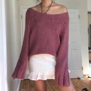 Free people off the shoulder sweater size XS